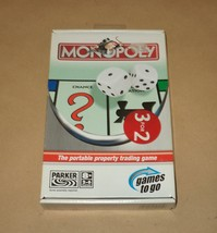 Monopoly Travel - Parker Brothers - Games To Go Hasbro – New - Unplayed - 2005 - $12.50