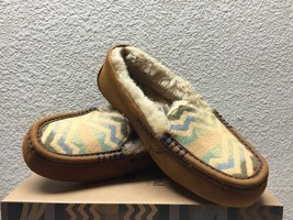 UGG ANSLEY PENDLETON CHESTNUT SLIPPERS US 7 / EU 38 / UK 5.5 -LIMITED ED... - $120.62