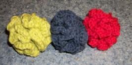 Three New Crochet Handmade Brain Ball Cat Toys For Spaniel Rescue Charity - $7.99