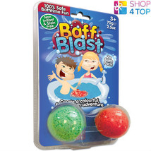 Baff Blast Bath Bombs 2 Pack Fizzing Bubbling Colorful Gelli Kids Children New - $7.81