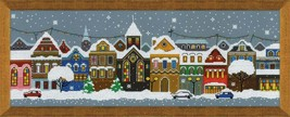 Cross Stitch Hand Embroidery Kit Winter Wonderland - $20.00