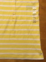 NWT Ralph Lauren Girl's Yellow & White Striped Sleeveless Shirt - Large 12/14 image 5