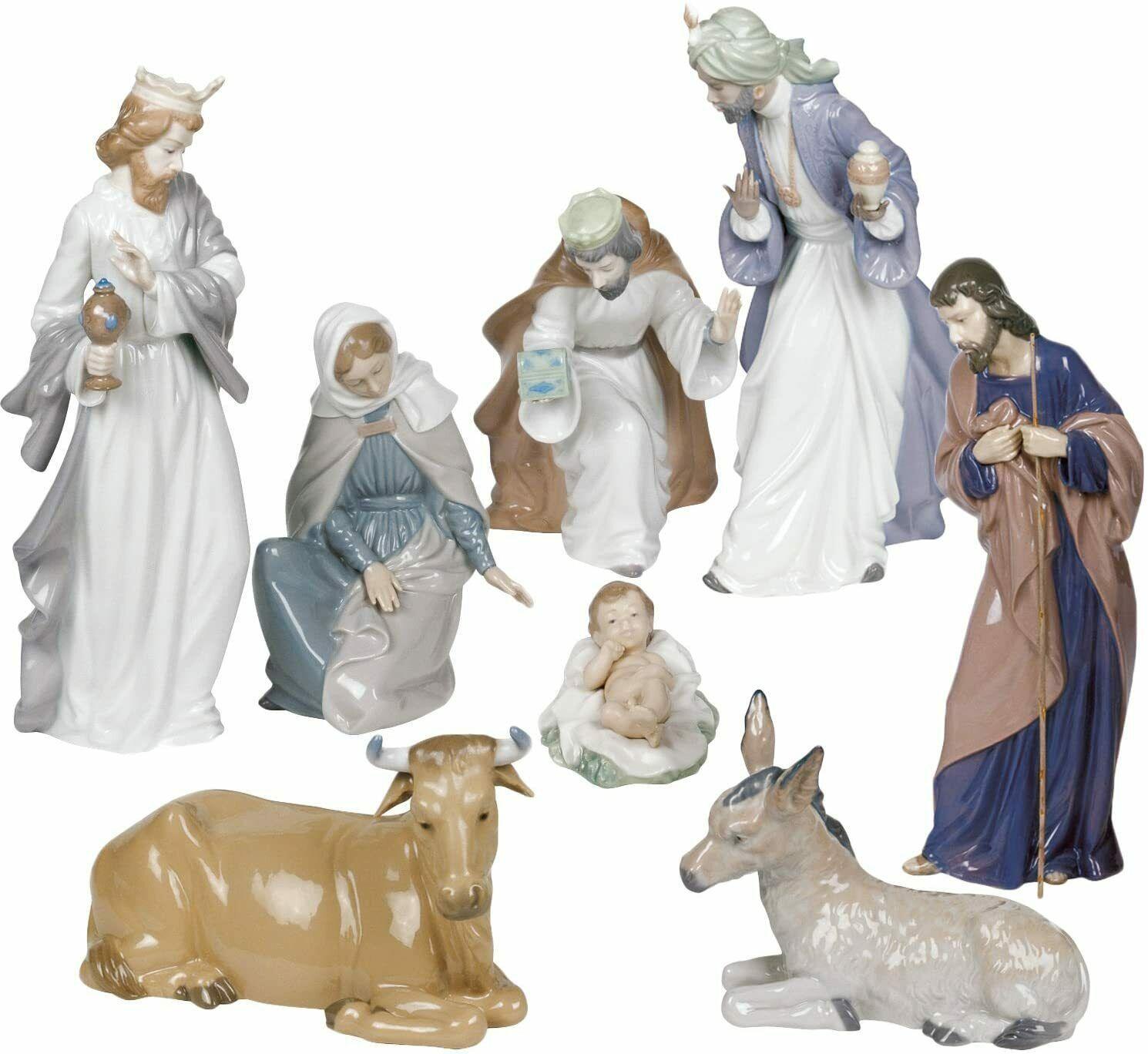 NAO Nativity Set Holy Family Baby Jesus, Mary, Josef, Three Kings Christmas New - $970.60