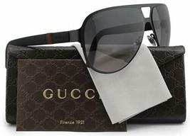 Gucci Men's Sunglasses GG2252 M7A Black Matte/Grey Lens Aviator 62mm Authentic  - $175.88