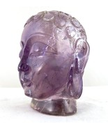 NATURAL BRAZILIAN AMETHYST BUDDHA HEAD STATUE 2350 CARATS GEMSTONE HOME ... - $1,995.00