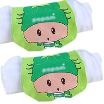 Lovely Cyan Cancer Cotton Gauze Towel Wipe Sweat Absorbent Cloth Mat Towel 2 Pcs
