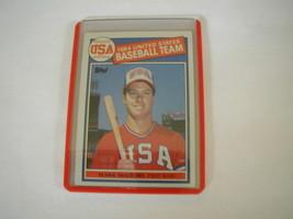 1984 TOPPS MARK MC GWIRE USA TEAM ROOKIE CARD #401 OAKLAND ATHLETICS RC - $29.69