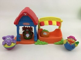 Weebles Pumpkin Garden Wobbling Figure Toys Toy Hasbro Playskool 2003 - $25.69