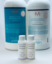 Moroccanoil Hydrating Shampoo And Conditioner 2.0 Oz Travel Size Color Safe - $15.35