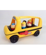 Vintage 1980's Little Tikes Toddle Tots Chunky People School Bus w/ (5) ... - $34.60
