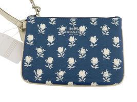 Coach Bold Flower Small Wristlet (Blue/White) - NWT & gift receipt (F53152) - $44.54