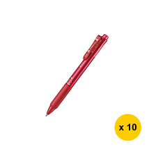 Pentel Feel C3 0.7mm Black,Blue,Red Pens (Pack of 10), Metallic Red, BXC... - $44.99