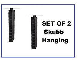 Ikea Organizer Closet Storage Hanging Skubb (2 Pack) Black - $23.98