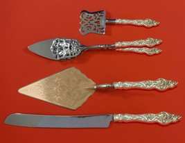 Les Six Fleurs by Reed and Barton Sterling Silver Dessert Set 4pc Custom Made - $579.00