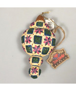 Jim Shore Christmas ornament Heartwood creek 2004 quilted look enesco - $29.99