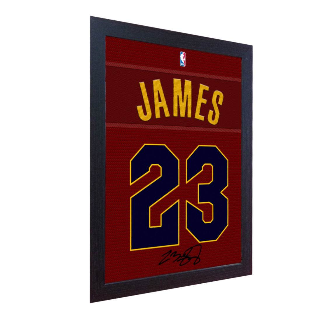 LeBron James Cavaliers signed autograph NBA printed on 100% COTTON Canvas Framed