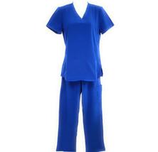 DSF Women's Four Stretch Scrub Set V-Neck Top Cargo Pants - $19.99
