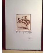 Bohlin Bronco Etching limited John Anthony Miller - w/ John T. Reynolds COA - $980.00