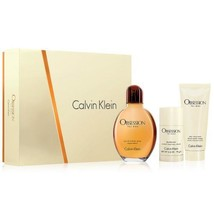 Calvin Klein Obsession 4.0 Oz EDT + Aftershave Balm 3.4 Oz + Deodorant 3 Pcs Set image 4