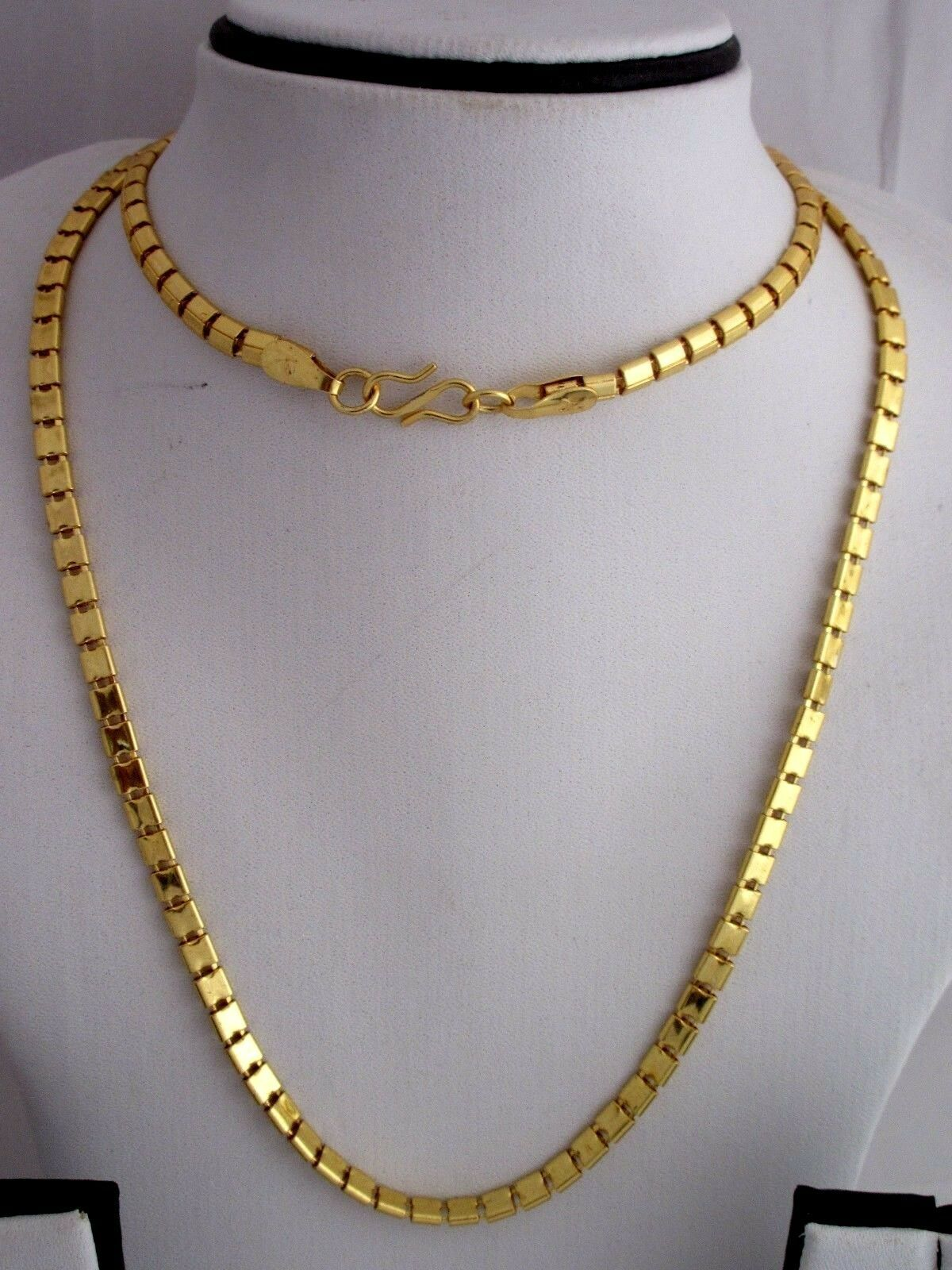 "Indian Bollywood Gold Plated 30"" Long Box Chain Wedding Necklace Fashion Jewelry image 2"