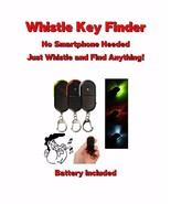 LED Key Finder Whistle & Find Anything Key Chain U.S SELLER FAST SHIP - $7.95