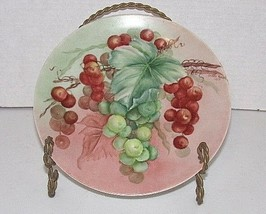 """8"""" Hutschenreuther Gelb - Bavaria Germany Grape Clusters/Hand Painted - $4.95"""
