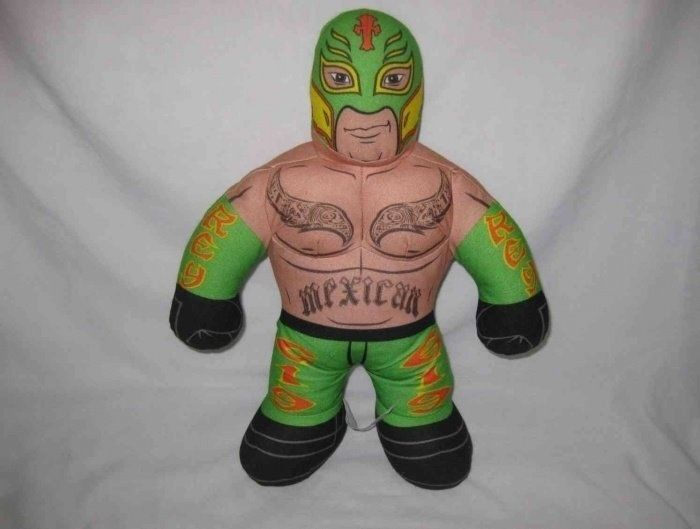 "Neat 2011 17"" WWE Wrestling Brawlin Buddies REY MX STERIO Talking Plush Figure"
