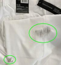 Men's Slim Fit Dress Pants Slacks Flat Front White Slacks 36x30 w/ Defect image 3