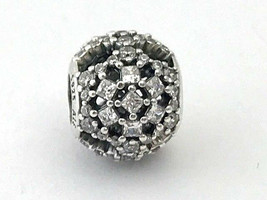 Authentic Pandora Snow Flurry Charm Bead, Sterling Silver, 796378CZ, New - $52.27