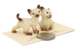 Hagen Renaker Miniature Cat Siamese Mama and Papag Ceramic Figurine Set image 3