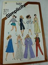 "Simplicity 5637 pattern Vintage 1980's Fashion doll 11 1/2"" UNCUT - $8.90"