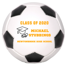 Personalized Custom Class of 2020 Graduation Mini Soccer Ball Gift Orange Text - $34.95