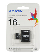 16GB ADATA Micro SD Card MicroSDHC AUSDH16GCL4-RA1 Class 4 Sealed Retail... - $8.49