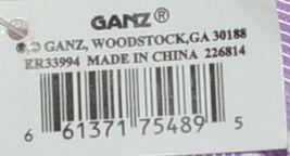 GANZ Brand Multi Color Chevron Monogram C Coin Purse With Purple Polka Dot Bow image 4