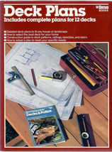 Deck Plans Includes Complete Plans for 12 Decks Bob Beckstrom SOFTCOVER ... - $2.95