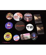 Movie Video Button Lot Terminator 2 Jurassic Park ++ - $16.99