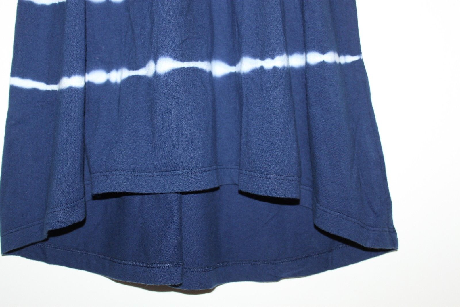 Gap Kids NWT Girl's Navy Blue Tie Dye Racer Back Maxi Dress Hi Lo Hem image 3
