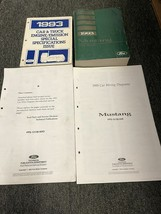 1993 FORD MUSTANG Service Shop Repair Manual Set W Fold Out Wiring Diagr... - $197.99
