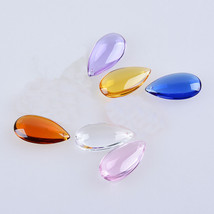 20pcs 50mm Crystal Glass Teardrop Prisms Drops Chandelier Parts Xmas Tre... - £10.01 GBP+