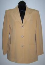 $188 EVAN PICONE Womens Size 6 100% Silk Blazer Suit Jacket Sport Coat C... - $52.99