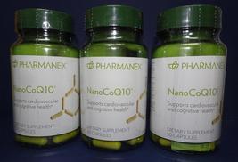 Three Pack: Nu Skin Nuskin Pharmanex NanoCoQ10 30 capsules SEALED x3 - $144.00