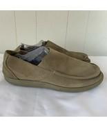 Mens Crocs Santa Cruz Clean Cut Loafer Tan Suede Slip On Size 11 - $39.57