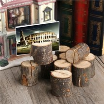 10pcs Wooden Wedding Name Place Card Holders Home Decor - $35.00