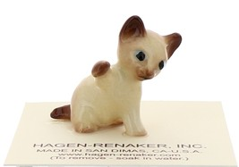 Hagen-Renaker Miniature Cat Figurine Siamese Kitten Paw Up Chocolate Point