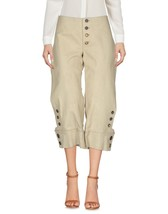 Outdoor Cropped Stylish Buttons Ho Women's Genuine Soft Lamb Skin Leather Pants