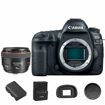 Canon Eos 5D Mark Iv / MK4 Dslr Camera Body + Ef 50mm f/1.2L Usm Lens - $3,233.97