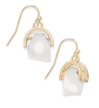 Inspired Life Gold-Tone Stone Drop Earrings - $9.89