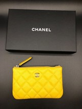 CHANEL Small Yellow Caviar O case Clutch -NEW - 2017 - $1,166.87 CAD