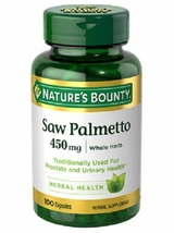 100 Saw Palmetto 450mg Nature's Bounty Prostate Urinary Health Supplement NEW - $86.52