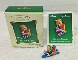 2002 On the Slopes Winnie Pooh Mini Hallmark Christmas Tree Ornament MIB... - $8.42